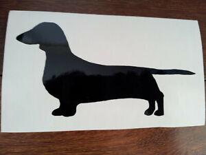 Dachshund Silhouette (Black) Car / Laptop Sticker, Decal