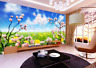 Papel Pintado Mural De Vellón Cielo De Pradera Flores 23 Paisaje Fondo Pantalla