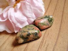 102-Lot de 2 Unakite-epidote-soin par les cristaux-Feng shui