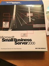 Microsoft Small Business Server 2000 Not For Resale. CDs With Keys.
