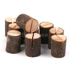 10PCS Rustic Natural Wood Wedding Place Card Holders Table Number Stands