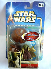 STAR WARS ATTACK OF THE CLONES YODA JEDI MASTER FIGURE 2002 SEALED