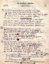 BOB DYLAN REPRO 1964 - CHIMES OF FREEDOM - HANDWRITTEN LYRICS