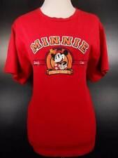 Cool Women's Medium Disney Red Simply Cute Minnie Short Sleeve T-Shirt GUC