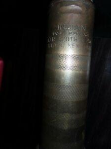 D B Smith brass Indian fire pump handle (1920's 30's)