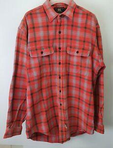 RRL Double R Ralph Lauren Retro Rare Mens Style  Thick Red Check Shirt Sz M