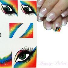 French Nagelsticker Bunt Nail Sticker Auge Nailart Tattoo Nagel Aufkleber 1318