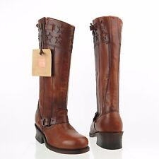 Women's Frye Harness American Tall Shoes Brown Leather Boots Size 7 M NEW! $790