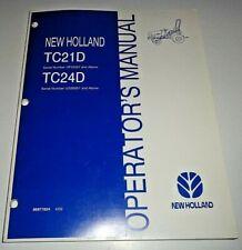 New Holland TC21D(s/n UF33357 &up)TC24D (s/nUG30001&up) Tractor Operators Manual