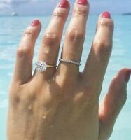 10k Yellow Real Gold Bridal Halo Engagement Ring Band Set Round Cut Diamond 3 Ct