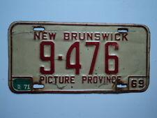1969 1971 NEW BRUNSWICK CANADA License Plate 9 476 Can