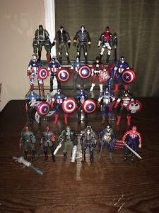 """Huge Lot Marvel Universe 3.75"""" Captain America First Avenger, Avengers Assemble"""