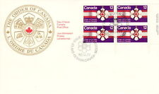CANADA #736 12¢ ORDER OF CANADA LR INSCRIPTION BLOCK FIRST DAY COVER