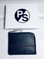 Paul Smith Men Wallet Coin Zip Leather Black RRP£100