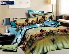 HORSE-3 King Size Bed Duvet/Doona/Quilt Cover Set 4 Pillowcases Brand New