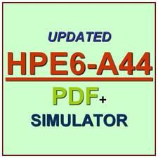 HP Aruba Scalable WLAN Design Implementation SWDI 8 HPE6-A44 Test Exam QA+SIM