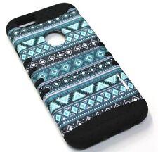 for iPhone 6 6s Cool Blue Tribal Hard & Soft Hybrid Rubber Koolkase Skin Case
