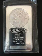 Sunshine Mint 10 oz Silver Bar | In Original Mint Packaging