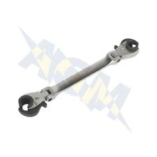 Sealey VS0347 Flare Nut Brake Pipe Flexi-Head Ratchet Spanner Wrench 10mm & 11mm