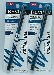 2 X Revlon  ColorStay Creme Gel Waterproof Eyeliner Pencils-836 Private Island