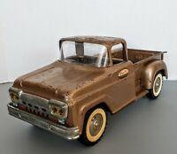 Vintage 1961 Tonka Toys Gold Step Side Pickup Truck Pressed Steel Mound Minn