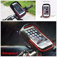 Motorcycle Bicycle Handlebar Sunshade Holder Mount Bag Case Rainproof For iPhone