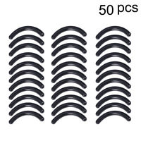 50pcs Refill Pads Black Eyelash Curler Replacement Eyelash Curler Pads for Girls