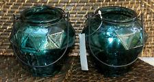 REDUCED    TUSCAN Style  Pair of Metal / Glass  Candle Holders   BRAND NEW