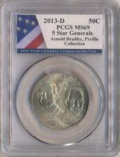 2013-D Arnold Bradley 5 Star General  Commemorative 50C PCGS MS-69