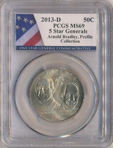2013-D Arnold, Bradley 5 Star General  Commemorative 50C PCGS MS-69