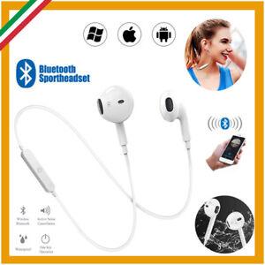 Cuffie Bluetooth Auricolari Wireless Senza Fili Universali Sport Guida Auto TV