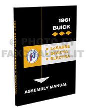 1961 Buick Factory Assembly Manual Invicta Electra LeSabre Le Sabre