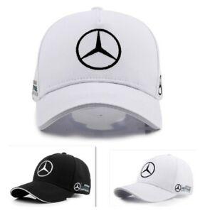 2021 MERCEDES BENZ² Logo AMG Cap Sport Baseball Hat outdoor Adjustable Black New