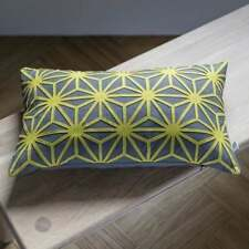 cushion in grey fabric and suede 50x30 CM