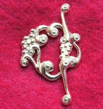 25Sets WHOLESALE Large Silver-Plated VINE Toggle Clasps Tibetan Hooks Q0954