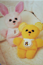 Rabbit and Teddy Bear Toy Sewing Pattern