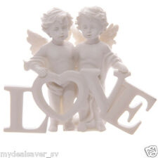 Beautiful Adorable Angel Wing Cherub Holding Love Letters Ornament Gift Figurine
