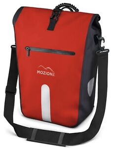 """Mozione® Gepäckträgertasche (Rot) 25L wasserdicht mit 15"""" Zoll Laptopfach"""