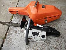 "Vintage Stihl 020AVP professional chainsaw 14"" bar Runs great! Original case"