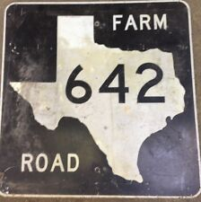 Old Authentic Retired TEXAS 642 SIGN Highway Oil Gas (24X24) Lone Star