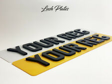 PAIR 4D 3D DOUBLE LASER CUT RAISED GLOSS LETTERS NUMBER PLATES FRONT & REAR