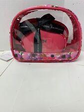 Jessica Mc clintock travel 3 pcs/Set Transparent Zipper Clear Make Up Pouch bag