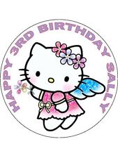 7.5 HELLO KITTY FAIRY EDIBLE ICING BIRTHDAY CAKE TOPPER