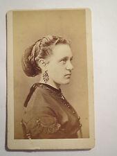 St. Gallen - schöne Frau im Kleid - Portrait / CDV