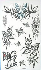 Butterfly Glitter Temporary Tattoos #hm0063
