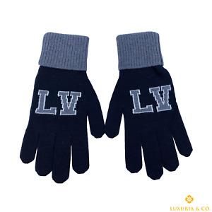 New Authentic Louis Vuitton 100% Wool LV Varsity Gloves #252K