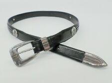 Onyx by Brighton Leather Golf Belt Concho Club Driver Braided 11503 Black 36