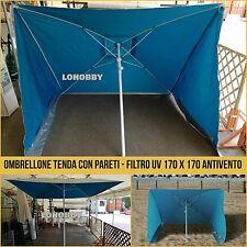 Ombrellone da mare con pareti filtro anti raggi Uv Upf antivento tenda spiaggia