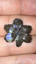 Natural Australian Boulder Opal Flower Carving Vintage 16.59 Carats