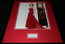 Dina Merrill Signed Framed 16x20 Poster Photo Display